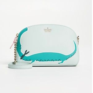 Kate Spade Swamped Alligator Hilli Cross Body Bag